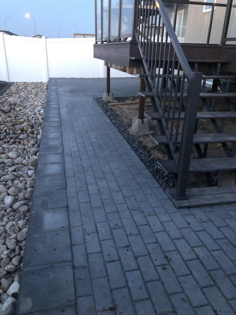 Artificial Turf Bellaturf Rymar Installation Brick Interlock Paver Slab Contractor Belgard Expocrete Charcoal Modern Landscaper Design